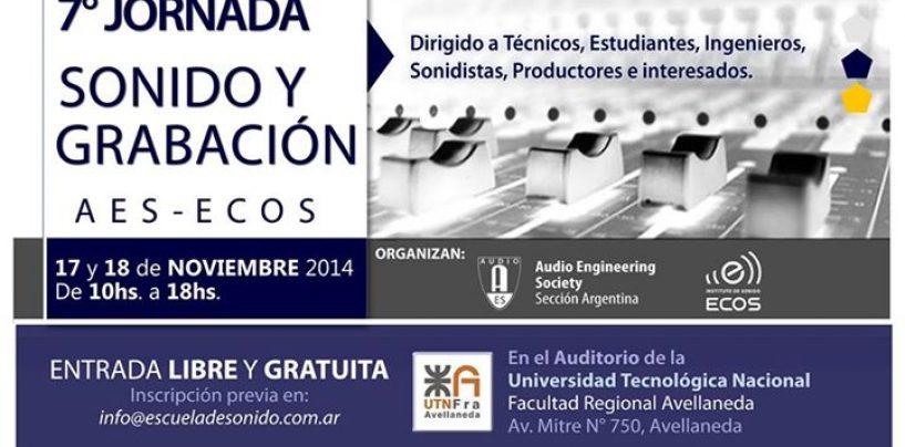 Se acerca la 7ma Jornada de Sonido y Grabación AES-ECOS