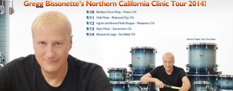 El artista de Dixon, Greg Bissonette llega a California para ofrecer su gira de clínicas