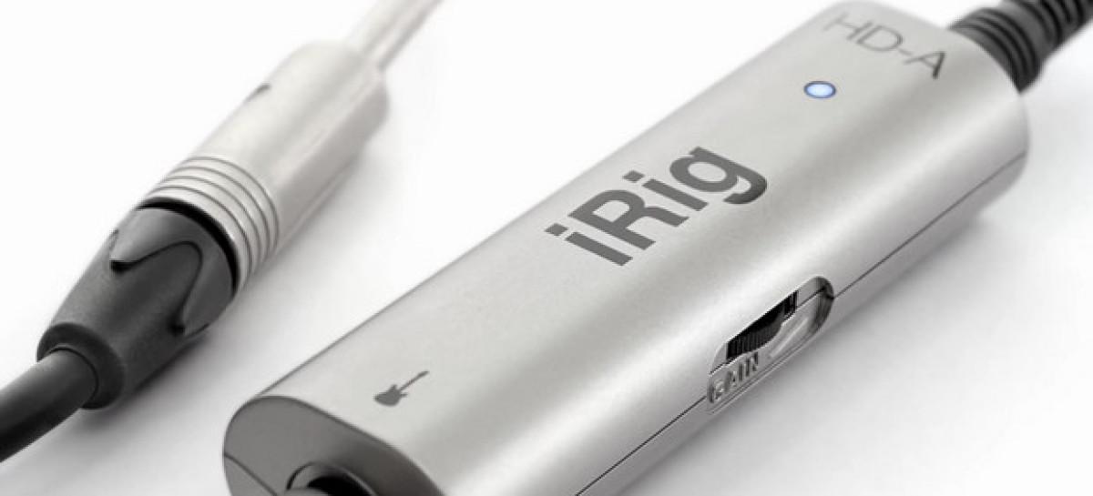 iRig HD-A es la interface de audio digital de guitarra para audio de IK Multimedia
