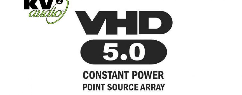 KV2 Audio lanza el nuevo VHD5.0 Constant Power Point Source Array