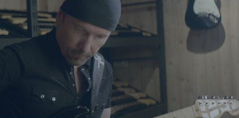 Armando equipo con The Edge Signature Stratocaster y el amplificador Deluxe de Fender