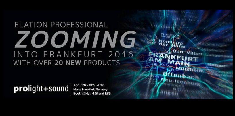 Elation Professional va a Prolight + Sound Frankfurt 2016 con novedades y sorpresas