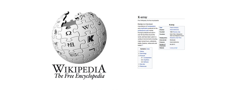 La página de K-array en Wikipedia ahora en vivo