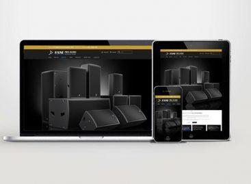 En vivo el nuevo sitio web de Fane Pro Audio