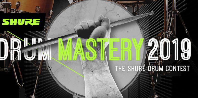 Shure anuncia «Drum Mastery 2019», su concurso de batería