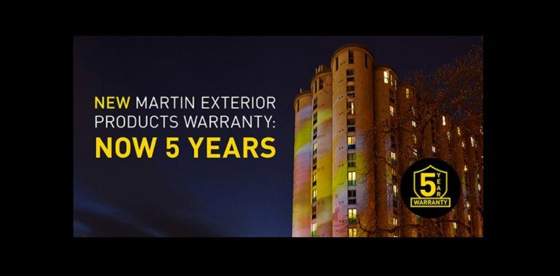 Martin Lighting ofrece garantía por 5 años